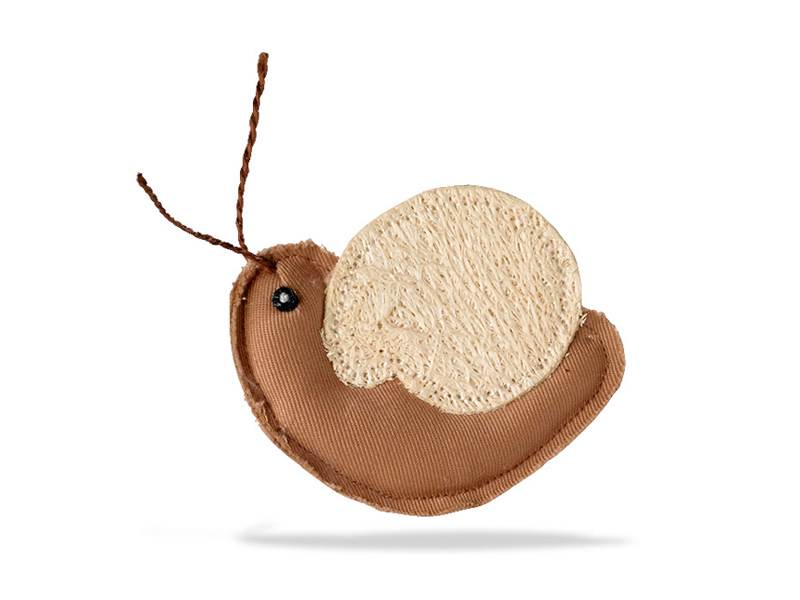 cat toy loofah snail