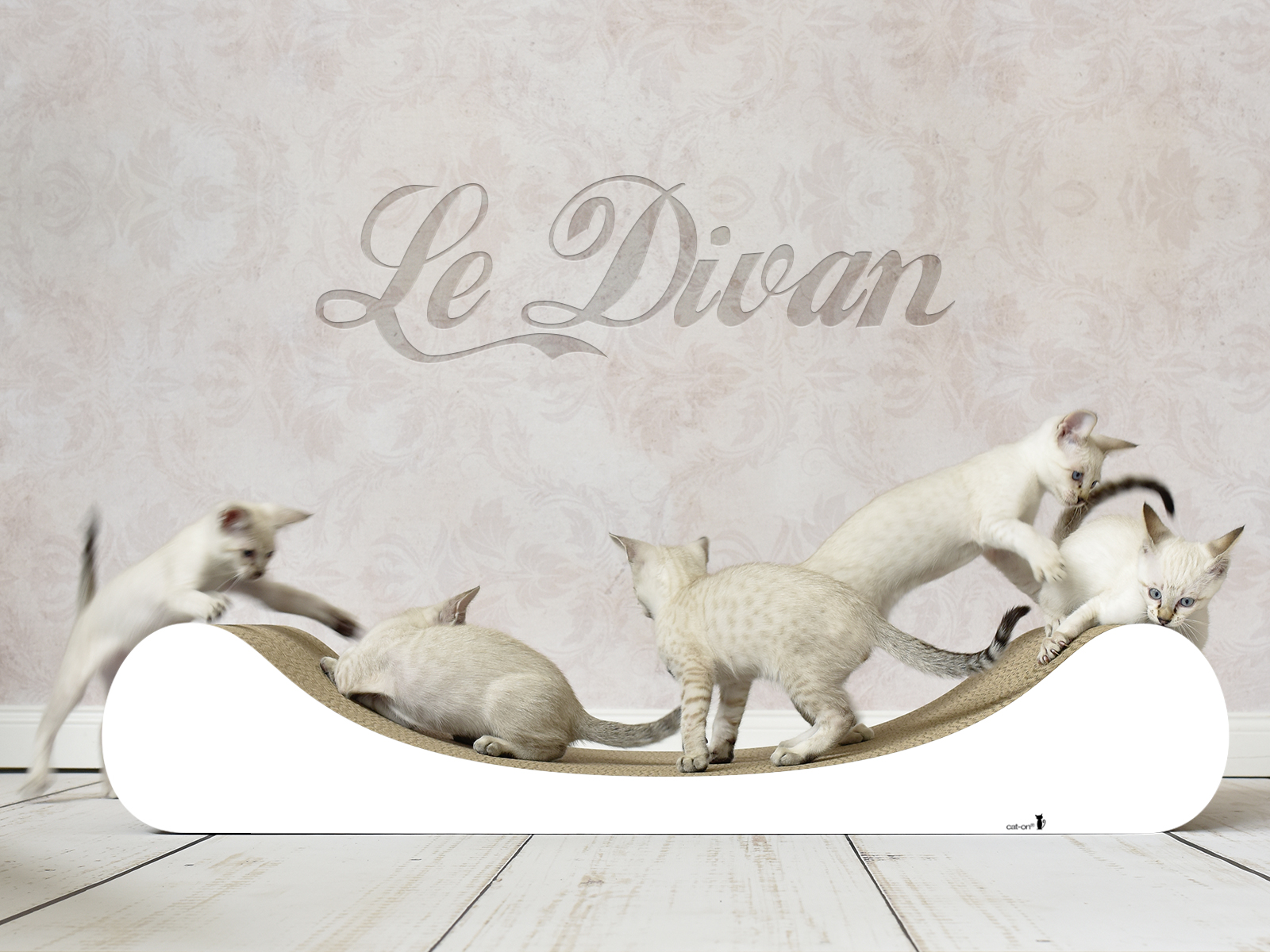 #000x - stylish design scratch post for cats Le Divan