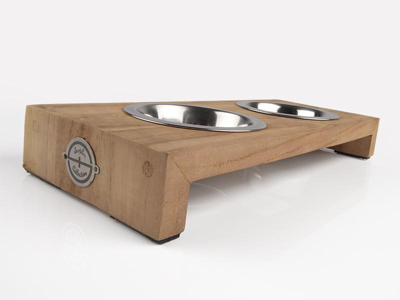 Fressnapf für Katzen aus Holz