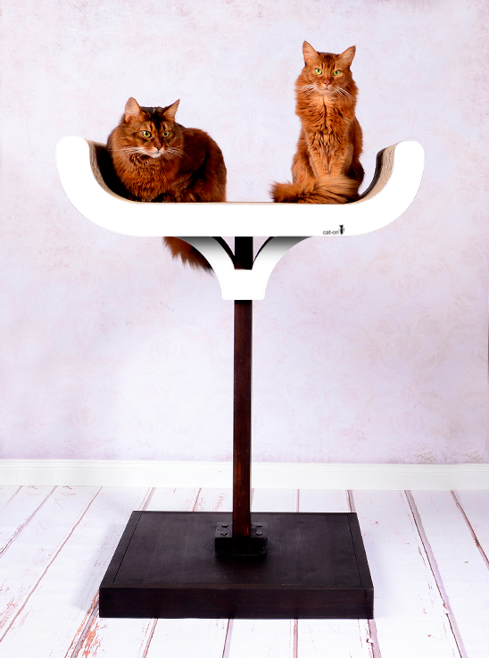 Cat tree Corbeille in white color