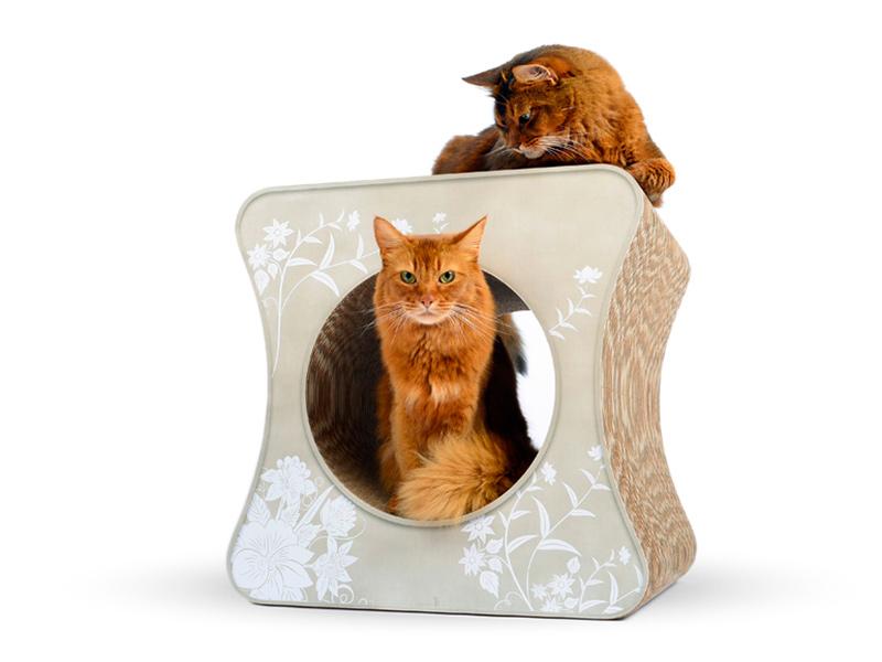 cat-on Le Cube |Kratzwürfel aus Wellpappe