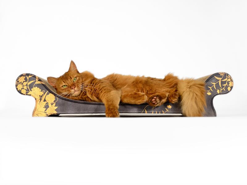 Cradboard cat lounger Le Canapé