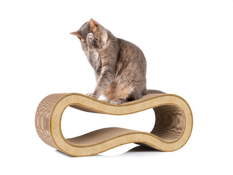 cat-on Singha M - cardboard cat scratcher handmade in Germany