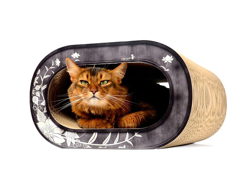 Design cardboard cat furniture cat-on Le Tronc |cardboard cat scratcher