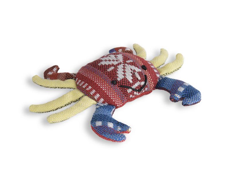 Katzenspielzeug Krabbe aus Baumwolle gefüllt mit Katzenminze