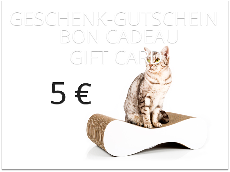 cat-on gift card - value: 5,00 €