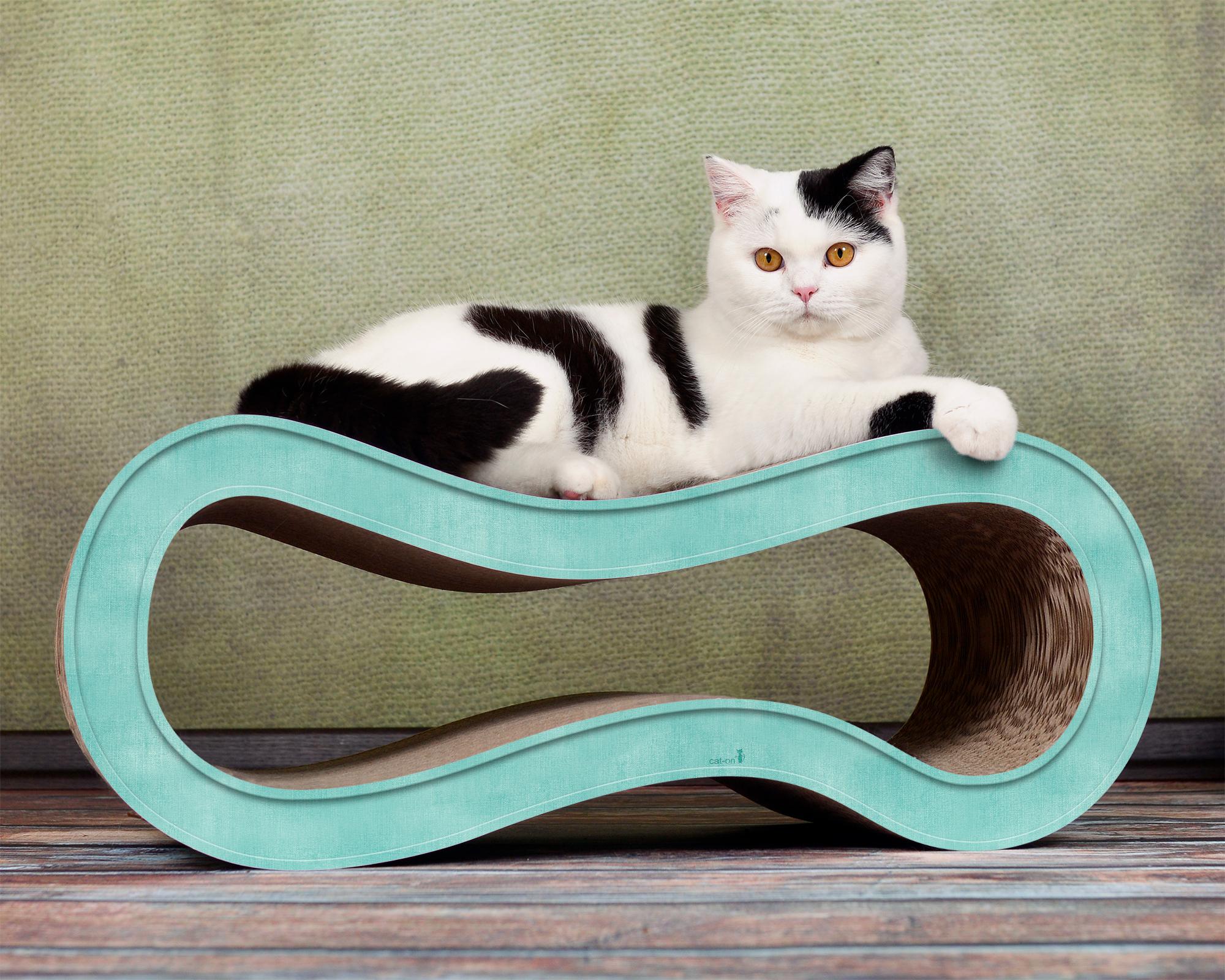 Cat scratching post de luxe Singha M turquoise
