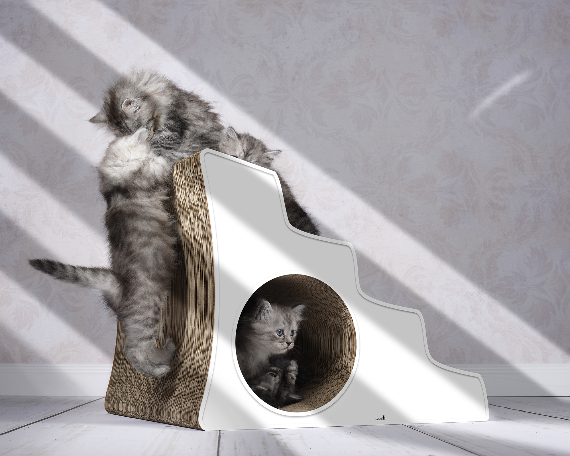 cardboard cat stairs Lescalier