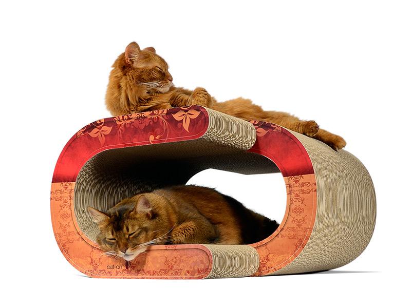 XXL cat scratcher for XXL cats |design cat scratching furniture