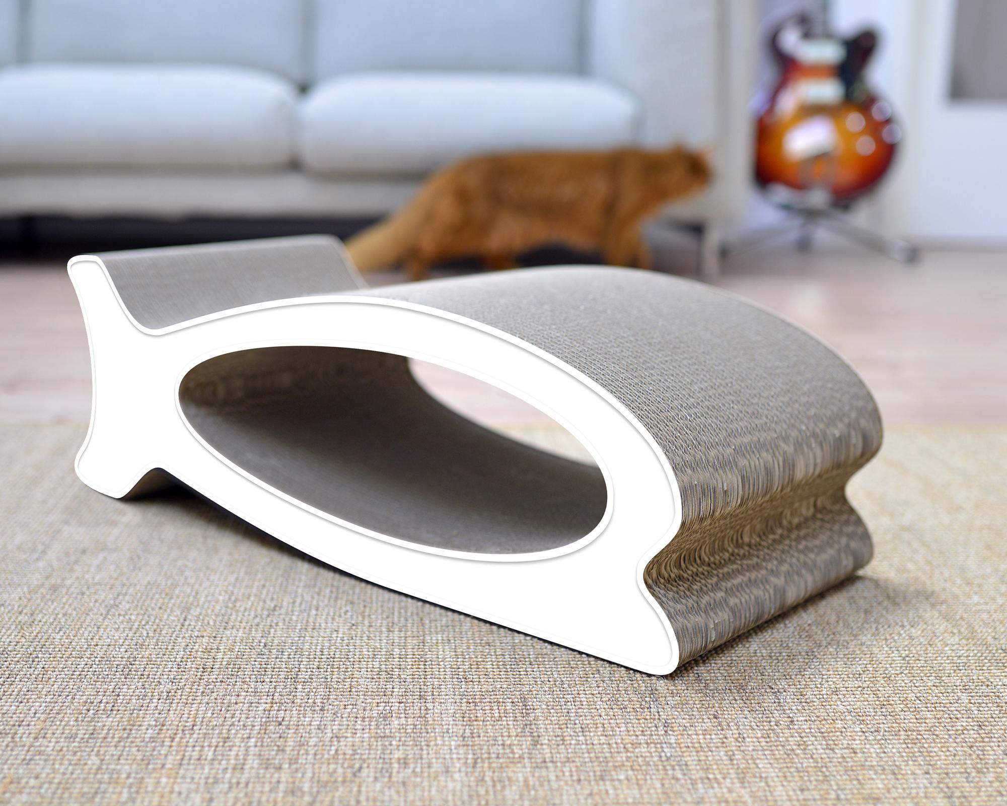 Le Fish cardboard cat scratcher