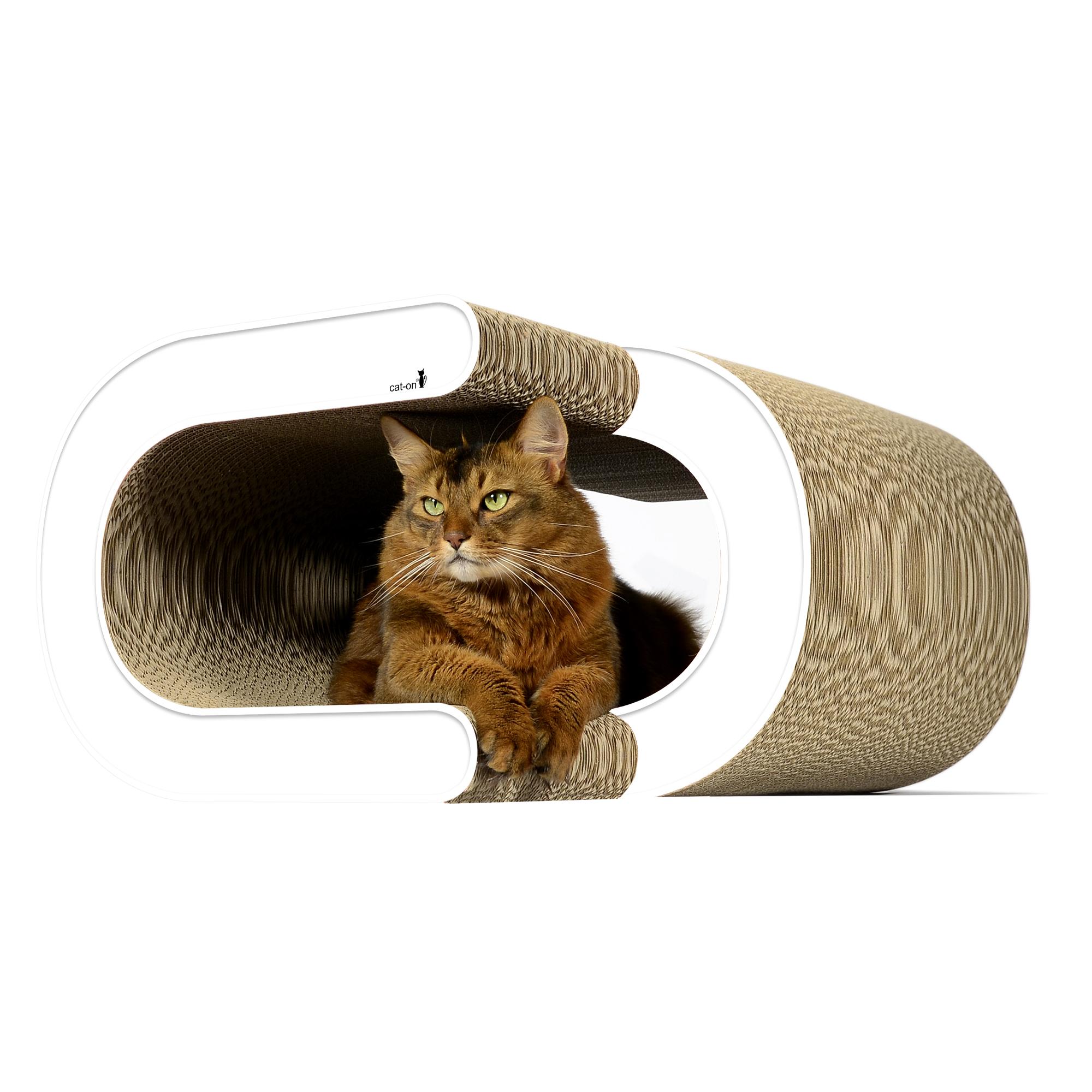 Design cardboard cat scratcher La Vague XL - color: 000 - white