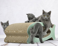 Le Fish cardboard cat scratcher