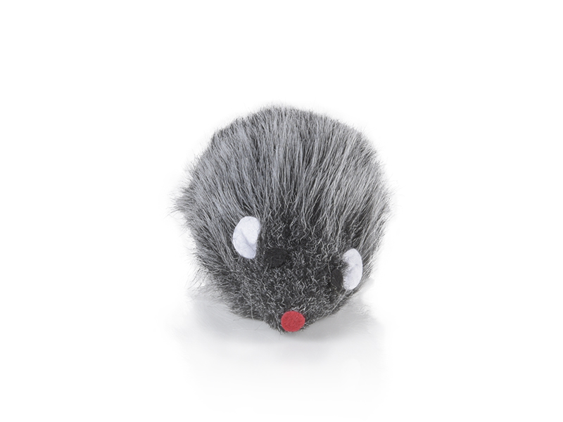 plush mouse 10cm in cotton for cats