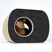 Design cat tree Brochhaus Junior - 000g - black, white rims
