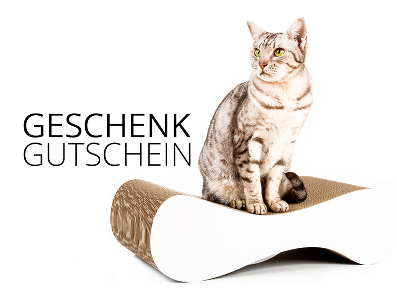 cat-on gift voucher 100,00 € | cardboard scratch posts