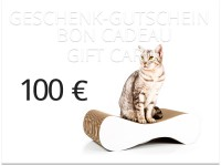 Preview: cat-on gift voucher 100,00 € | cardboard scratch posts