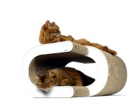Preview: Design cardboard cat scratcher La Vague XL - color: 000 - white