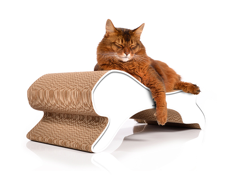 cat tree and scratch post cat-on Motion - cardboard cat scratcher