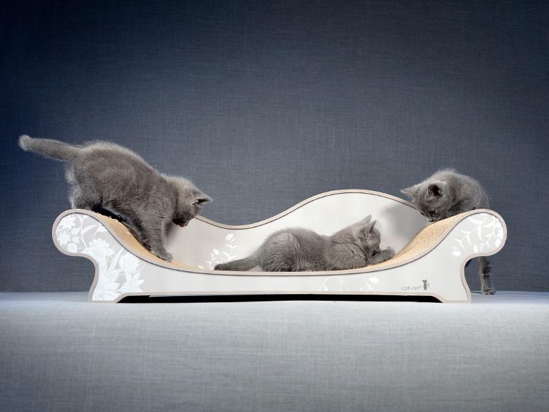cardboard cat scratching furniture | cat sofa Le Canapé Plus