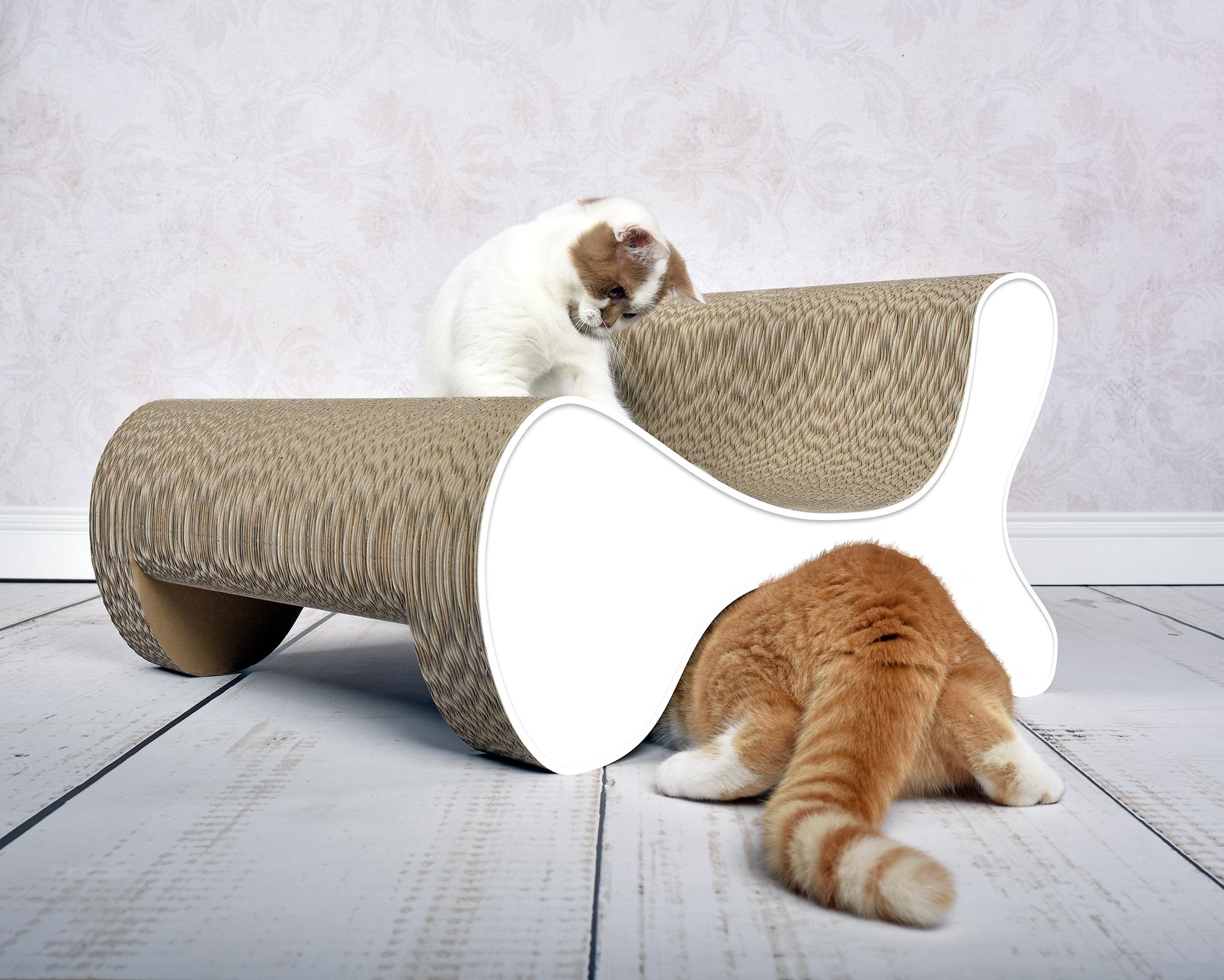 Molecular Fauteuil design cat scratcher