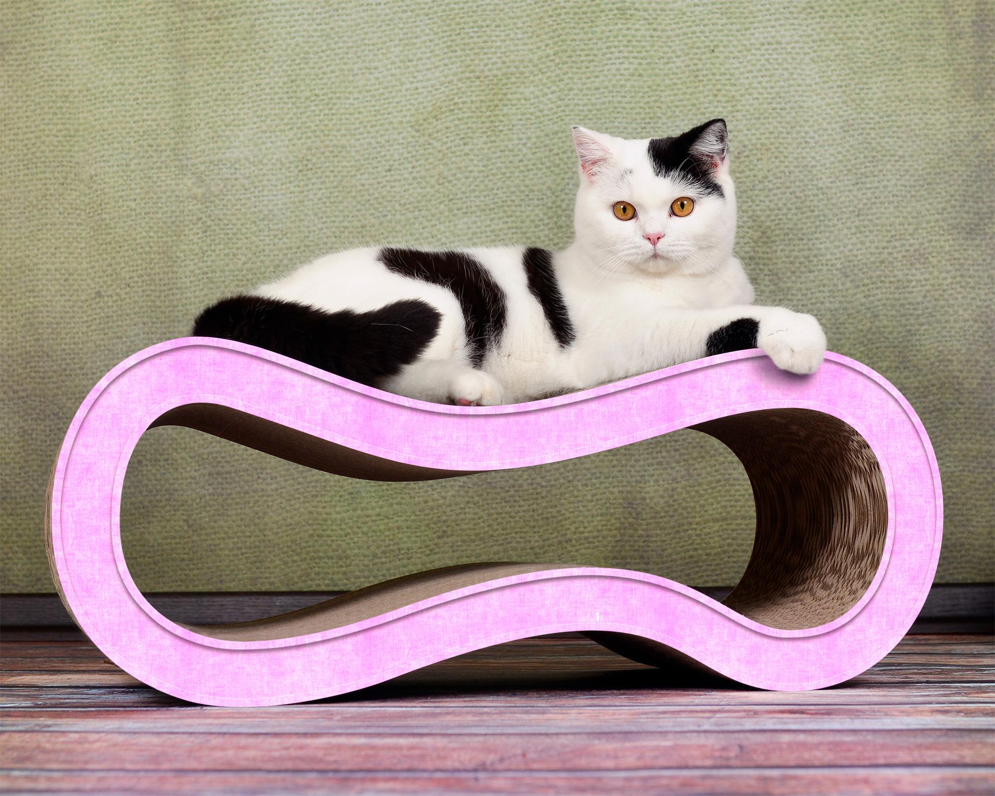 Unique cardboard cat scratcher Singha M in rose