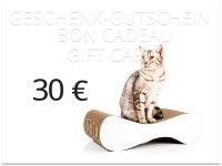 Preview: cat-on voucher card 30,00 € | scratch posts, cat scratchers