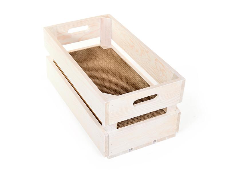 Kratzkiste - Holzkiste mit Kratzpappe, wendbar