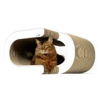 Design cardboard cat scratcher La Vague XL - color: 000 - white