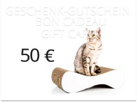 cat-on gift voucher - value: 50,00 € | cat furniture, scratchers, scratch posts