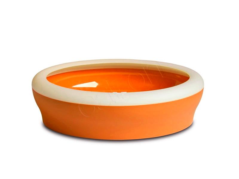 Design Toilette für Katzen orange