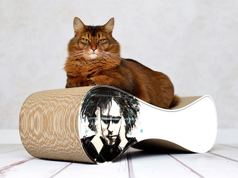 pop art by Federica Masini: cat scratcher Le Ver Robert Smith